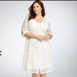 Torrid ivory lace slip dress 2x